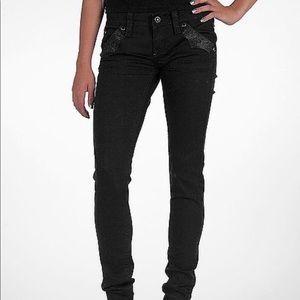 Rock Revival Skye Skinny Black Jeans Sz 27